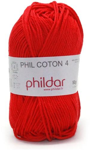 Phildar Phil Coton 4 1038 Cerise