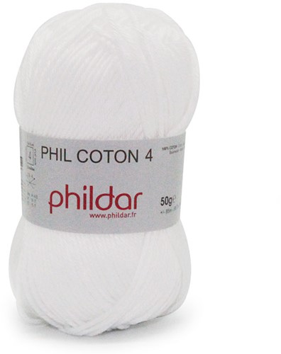 Phildar Phil Coton 4 1225 Blanc