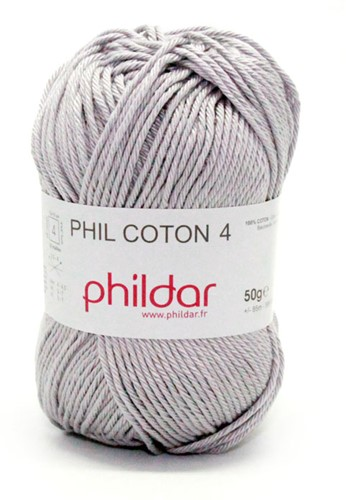 Phildar Phil Coton 4 1462 Silver