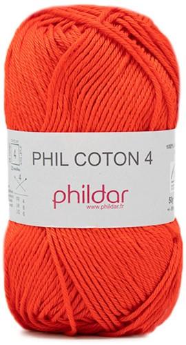 Phildar Phil Coton 4 2033 Vermillon