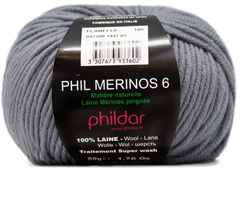Phildar Phil Merinos 6 1447 Flanelle