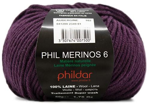 Phildar Phil Merinos 6 2349 Aubergine