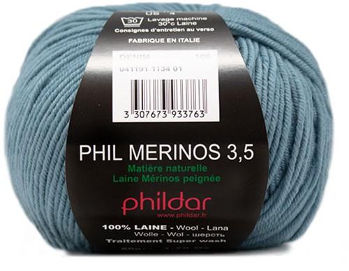 Phildar Phil Merinos 3.5 1134 Denim