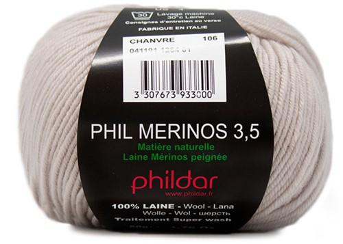 Phildar Phil Merinos 3.5 1264 Chanvre