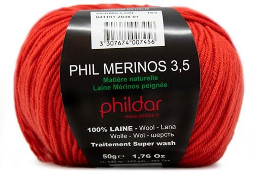 Phildar Phil Merinos 3.5 2038 Vermillon