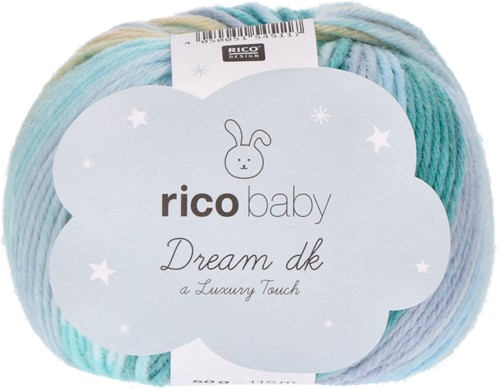 Rico Baby Dream DK 006 Turquoise Mix