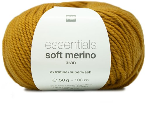 Rico Essentials Soft Merino Aran 001 Mustard