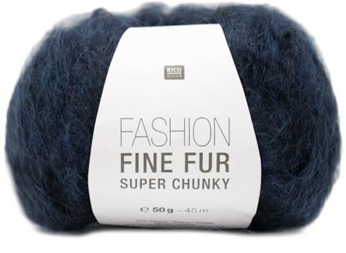 Rico Fashion Fine Fur Super Chunky 4 Marine