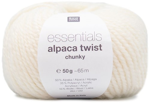 Rico Essentials Alpaca Twist Chunky 001 Creme