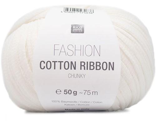 Rico Fashion Cotton Ribbon Chunky 01 Wit