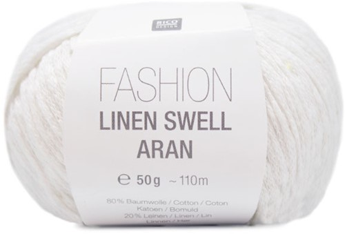 Rico Fashion Linen Swell Aran 001 White