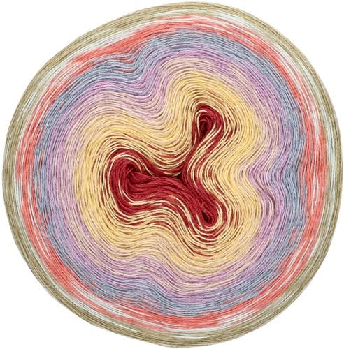 Rico Creative Cotton Dégradé Lucky 8 005 Red lilacs