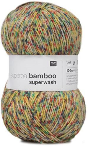 Rico Superba Bamboo Confetti 4-ply 026 Yellow
