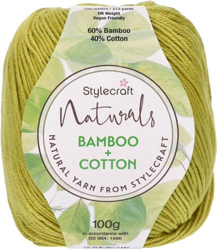 Stylecraft Naturals - Bamboo + Cotton DK 7125 Citronelle