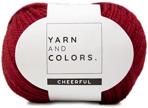 Yarn and Colors Chunky Cheerful Colsjaal Haakpakket 1 Burgundy