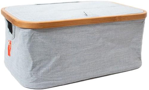 Opberg Box Opvouwbaar Canvas en Bamboe Blauw