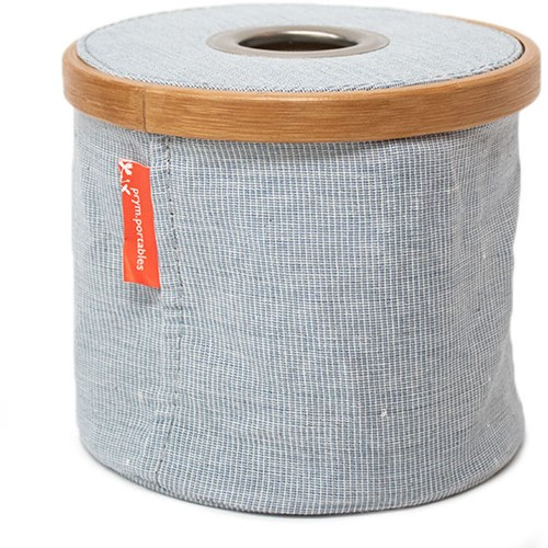 Wol-Dispenser Opvouwbaar Canvas en Bamboe S Blauw