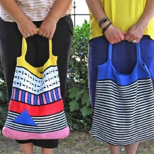 Haakpatroon Double Four City Bags