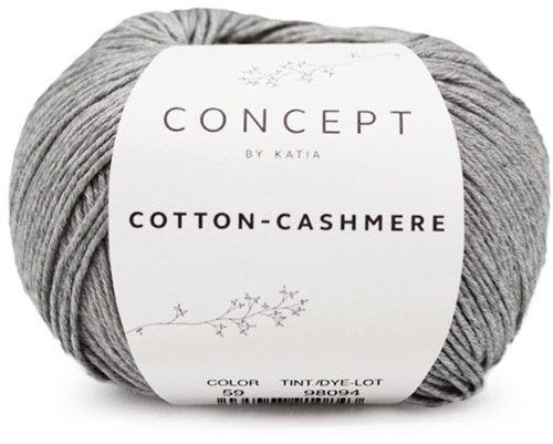 Cotton-Cashmere Sweater Breipakket 2 42/44 Grey