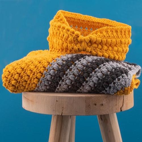 Haakpatroon Yarn and Colors Criss Cross Dot Headband
