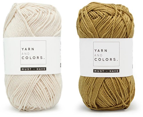 Yarn and Colors Must-Have Cushion Haakpakket 1 Cream / Gold