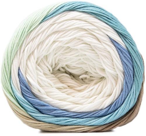 Fair Cotton Craft Damesjurk Breipakket 2 White / Beige / Green / Aqua Blue