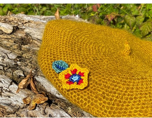 Haakpatroon Flower Baret
