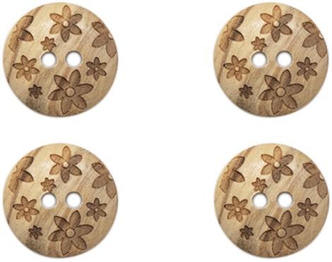 Drops Knoop Bloemen 15mm