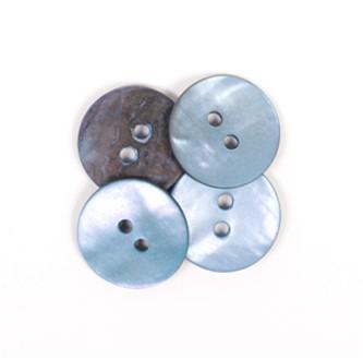 Drops Knoop Rond Blauw 15mm