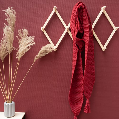 Yarn and Colors Soft Serene Sjaal Haakpakket 1 Burgundy
