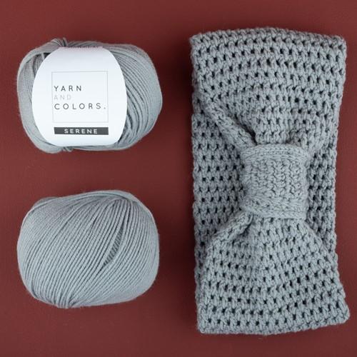 Yarn and Colors Soft Serene Hoofdband Haakpakket 2 Shark Grey