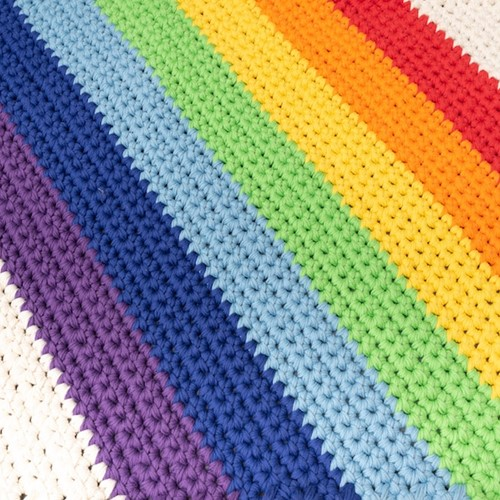 Yarn and Colors Rainbow Rug Haakpakket 1 Colorful