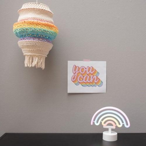 Yarn and Colors Rainbow Lamp Haakpakket 2 Pastel