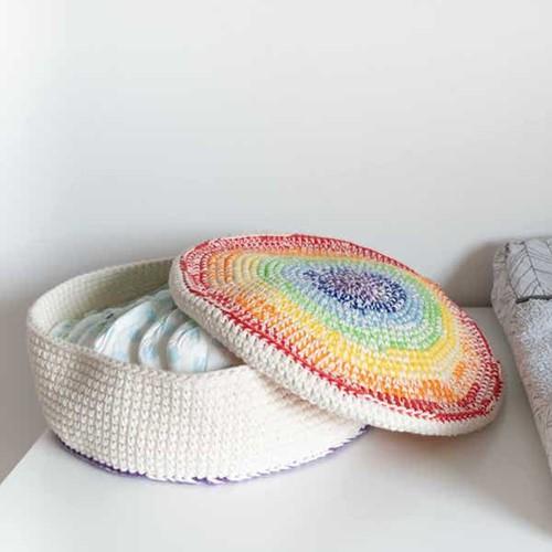 Yarn and Colors Rainbow Basket Haakpakket 1 Colorful