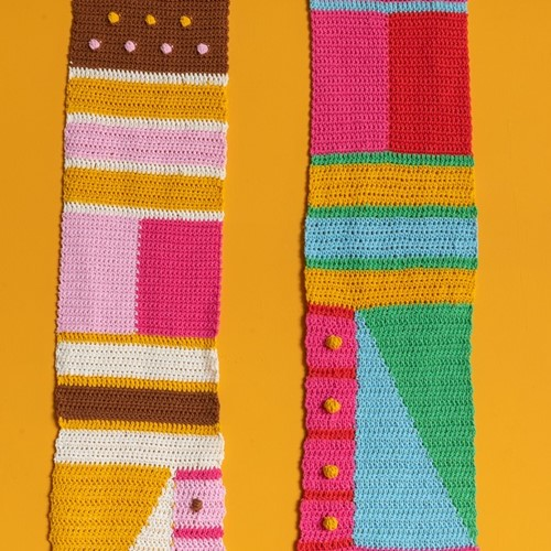 Haakpatroon Yarn and Colors Graphic Scarf