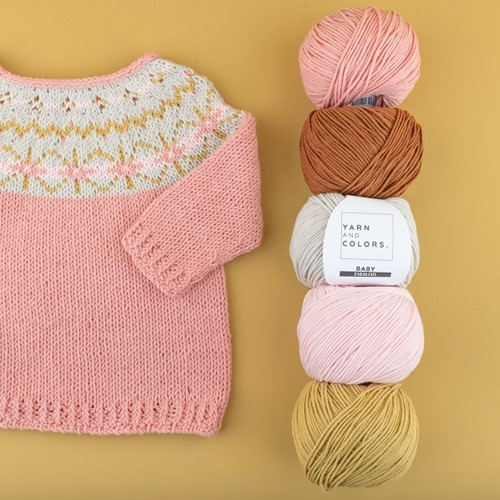 Yarn and Colors Hanna Sweater Breipakket 1 Old Pink