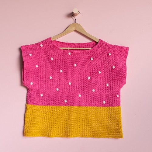 Yarn and Colors 'Baby You Look Fabulous' Top Haakpakket M 2 Girly Pink