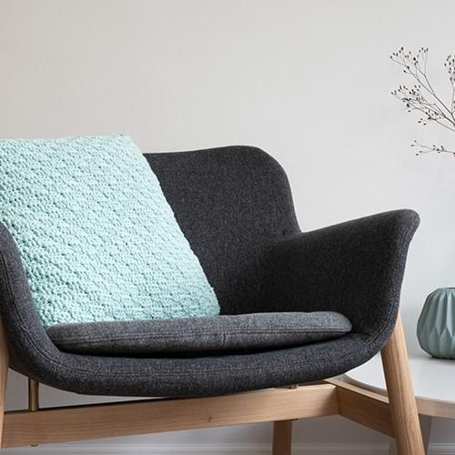 Yarn and Colors Basketweave Comfy Cushion Haakpakket 073 Jade Gravel