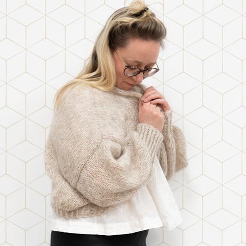 Yarn and Colors Cloud Cardigan Knit Breipakket S/M 002 Cream