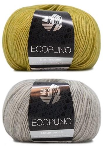 Ecopuno Strepentrui Breipakket 2 36/38 Yellow-Green / Light Grey