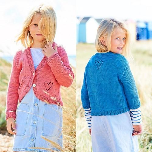 Breipatroon Stylecraft Naturals - Organic Cotton DK No. F088 Meisjes vesten