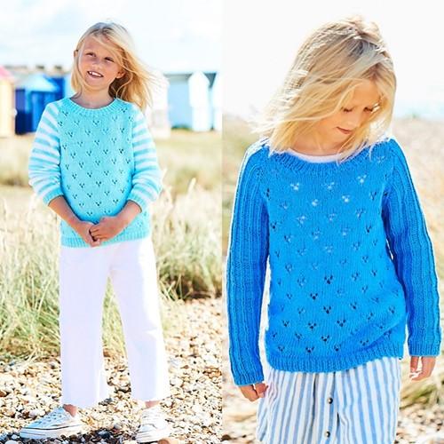 Breipatroon Stylecraft Naturals - Organic Cotton DK No. F089 Meisjes tops