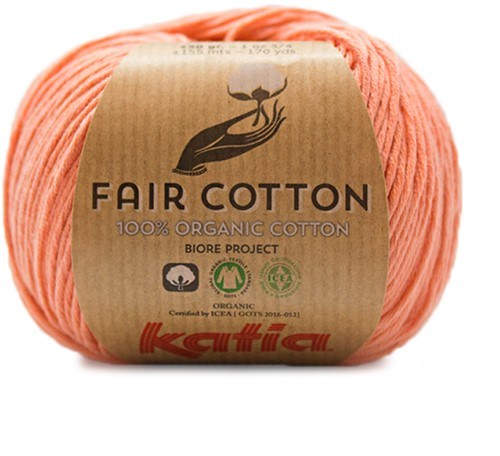 Fair Cotton Zomertop Haakpakket 2 38/40 Salmon-Orange
