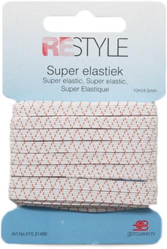 Restyle Standaard Elastiek 10m/4,5mm Wit