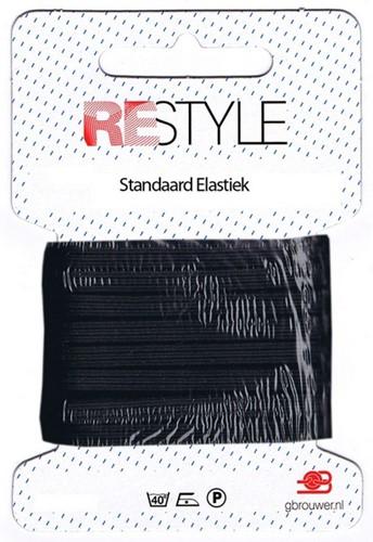 Restyle Standaard Elastiek 10m/4,5mm Zwart