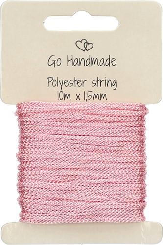 Go Handmade Polyester Koord 4 Roze