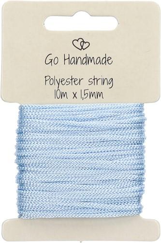 Go Handmade Polyester Koord 5 Blauw