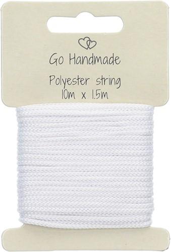 Go Handmade Polyester Koord 6 Wit