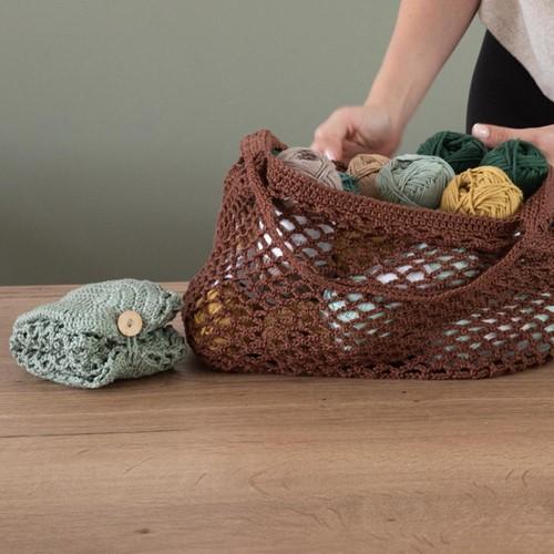 Haakpatroon Yarn and Colors Foldable Net Bag