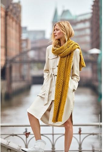 Ecopuno Ajour Sjaal Breipakket 1 Curry yellow
